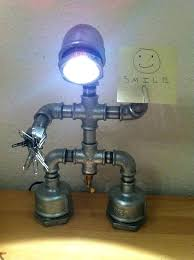 making a pipe lamp pipe lamp plans iron robot desk a how to make decorative light