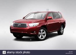 2009 Toyota Highlander Limited in Red - Front angle view Stock ...