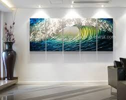ocean waves 3d metal wall painting decoration chb6015093