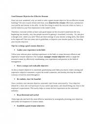 college well written resume objectives splendid good cv objective how to write an effective objective for a resume