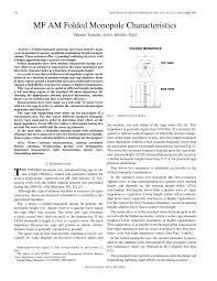 Folded Monopole Design Pdf Mf Am Folded Monopole Characteristics