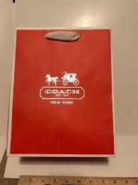 Coach Medium Shopping Gift Wrap Bag Tote Orange Tissue Closet Eco Reusable  RARE