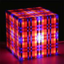funky lighting. alle design lux lighting striped cube light funky p