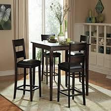 rustic dining set. Red Barrel Studio Belknap 5 Piece Counter Height Rustic Dining Set