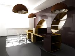 home office design quirky. Quirky Elegant Ddesignfuturistic Office Furniture With Brown Hang Lamp Can Add The Modern Touch Inside House Home Design