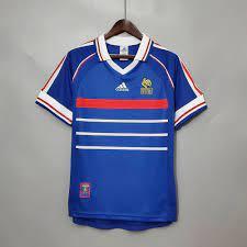 تيشرت منتخب فرنسا الكلاسيكي 1998 - متجر ميم الرياضي