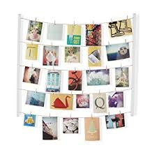 Umbra Hangit Photo Display - DIY Picture Frames Collage Set Includes  Picture Hanging Wire Twine Cords