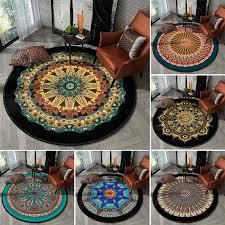 ethnic style mandala round carpet