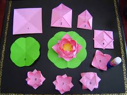 How To Make A Lotus Flower Out Of Paper A Story Of Making Paper Lotus Flowers Photos Falun Dafa