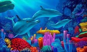 secrets of the sea under sea oil paintings
