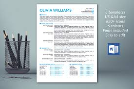 Template Modern Resume Template Cover Letter References Cv Word 2018