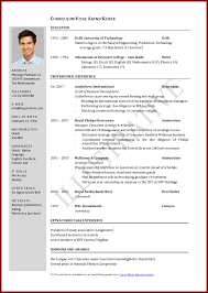 International Format Resume 013 Curriculum Vitae Sample Pdf File International Resume