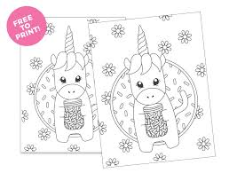 I started by making these printable unicorn templates in different sizes. Printable Unicorn Coloring Page Design Eat Repeat