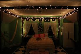lighting for girls bedroom. Fascinating String Lights For Girls Bedroom Including Shining Ideas Picture Pleasant Girl With Canopy Model Mural Also And Green Themes Lighting