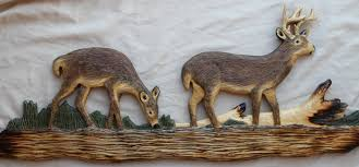 luxurious and splendid cabin wall art home pictures log decor hand carved carvings of bear rac
