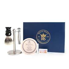 merkur 43c stainless steel safety razor gift set st james