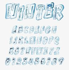 frozen font free download frozen winter word winter vector winter png and vector for free