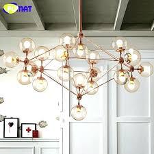 glass ball chandelier modern very large