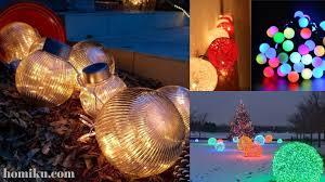 How To Make Outdoor Christmas Light Balls 41 Diy Christmas Light Balls For Outdoor Decoration Homiku Com