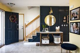 our modern navy small entryway makeover