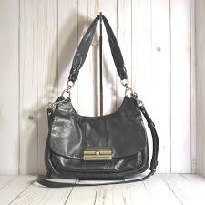 Coach Kristin Leather Hippie Shoulder Bag Purse