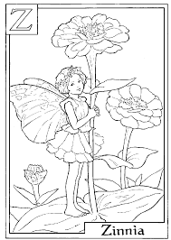 Download and Print letter z for zinnia flower fairy coloring page ...