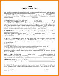 Rent House Lease Agreement.renters Agreement Template Free Printable ...