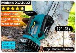 makita battery chainsaw. makita xcu02z 18v x2 lxt | 36v battery powered chainsaw e