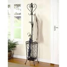 Kipling Metal Coat Rack With Umbrella Stand rack Coat And Umbrella Rack Holder Brown Wooden With Five Hooks 46