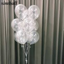 10pcs/lot <b>12</b> Inch Thick 2.8g <b>Clear Latex Balloon</b> Transparent <b>Ballon</b> ...