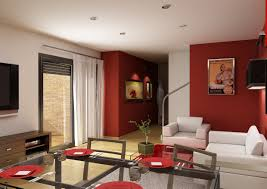 terrific small living room. Modern Schemes Of Living Room Presenting Minimalist White Fabric Sofa And Charming Red High Gloss Table. Terrific Design Small R