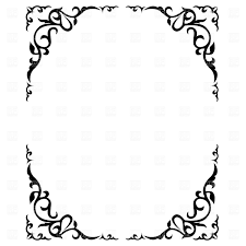 ornate fl frame vector image vector ilration of borders and frames prague 1312 to zoom