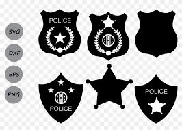 police badge monogram sheriff clipart