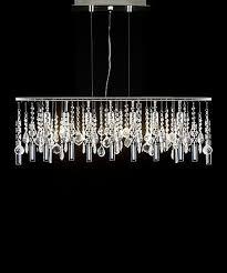 modern linear crystal chandelier