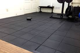 how to clean and mainn rubber floor tiles