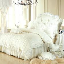 post king ruffle bedding size with dust duvet cover queen waterfall covers grey