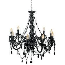 innovative black glass chandelier mariah 9 arm black glass chandelier