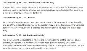 Inter V Gratis Job Interview Tips That Will Help You Make A Good