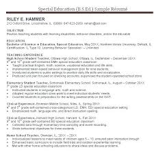 Best Solutions Of Resume Special Education Instructional Assistant