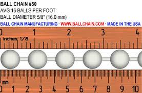 Ball Size Chart Ball Chain Sizes Bead Chain Sizes Size Chart