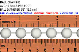 Ball Chain Sizes Bead Chain Sizes Size Chart