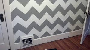 Home Decor:The Official Guide To Painting A Chevron Wall In 6 Simple Steps  wall