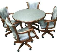 I Dining Room Chairs On Wheels Caster Chair Kitchen  Table Sets With