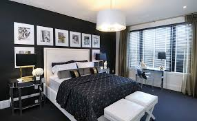 black bedroom. Plain Bedroom View In Gallery Black With A Hint Of Gold The Bedroom Design  Atmosphere Interior Design Intended Bedroom T