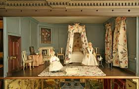 dolls house interior. the chintz bedroom. ©national trust images/robert thrift dolls house interior e
