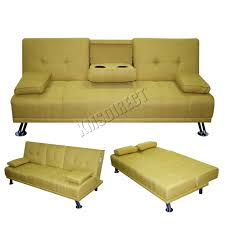 Luxury Couch Foxhunter Fabric Manhattan Sofa Bed Recliner 3 Seater Modern
