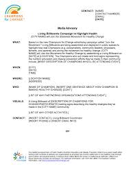 Media Advisory Media Advisory Barca Fontanacountryinn Com