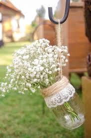 Church decor- Hanging Mason Jar Vases, Set of Wedding Aisle Decor, Rustic  Wedding Mason Jar