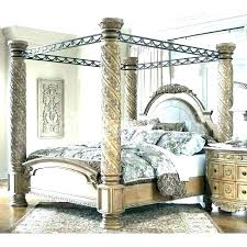 Wood Canopy Bed Frame Black Wood Canopy Bed Frame Queen Size Canopy ...