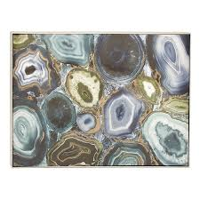 transitional 36 inch abstract geode canvas wall art by studio 350 multi color on transitional canvas wall art with shop transitional 36 inch abstract geode canvas wall art by studio